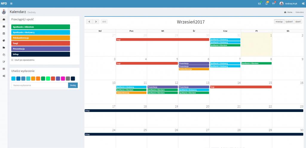 new experience for dynamics intersys calendar kalendarz kolor color