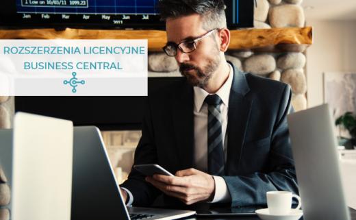 rozszerzenia licencyjne Business Central