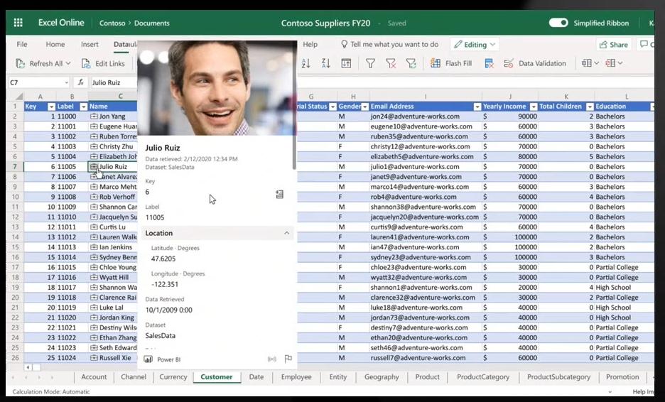 PowerBI - Excel