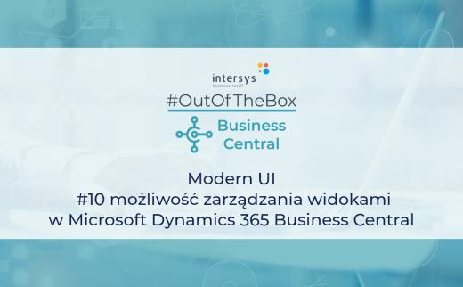 możliwość zarządzania widokami w Microsoft Dynamics 365 Business Central