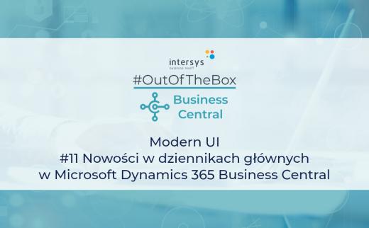 nowości w dziennikach głównych w Microsoft Dynamics 365 Business Central
