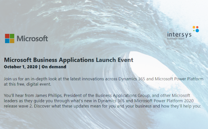 Microsoft Business Applications Launch Event