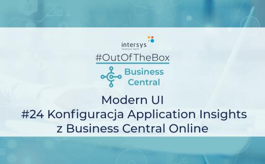 Konfiguracja Application Insights z Business Central Online