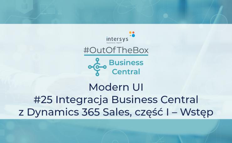 Integracja Business Central z Dynamics 365 Sales