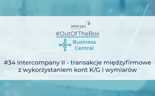 Intercompany II - transakcje międzyfirmowe z wykorzystaniem kont K/G i wymiarów